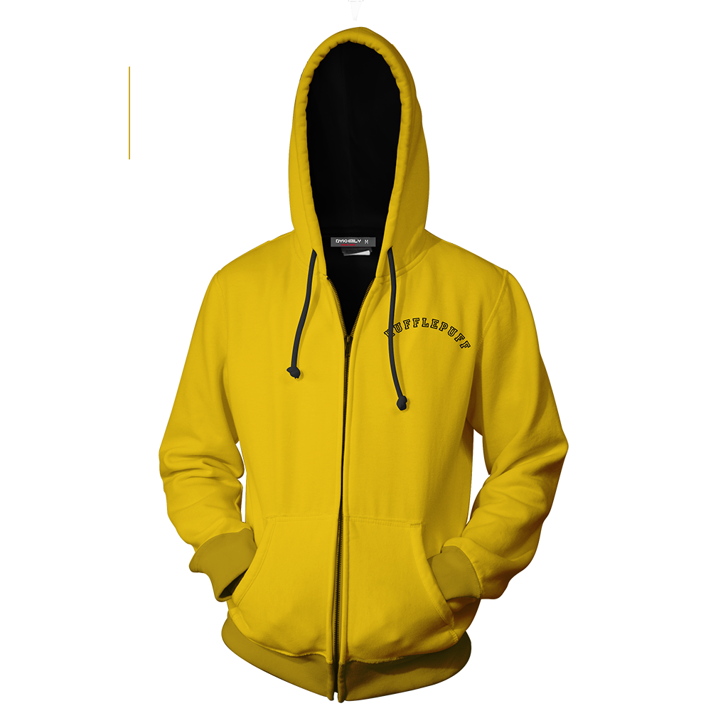 Quidditch Champion Hufflepuff Team Harry Potter Zip Up Hoodie
