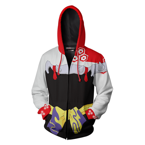 Image of Inuyasha Sesshomaru Cosplay Zip Up Hoodie Jacket