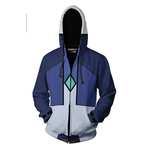 Image of Setsuna F. Seiei Cosplay Mobile Suit Gundam 00 Zip Up Hoodie Jacket