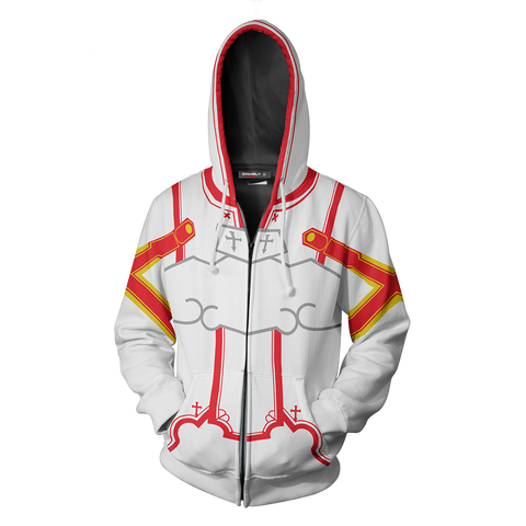 Image of Sword Art Online Asuna Cosplay Zip Up Hoodie Jacket