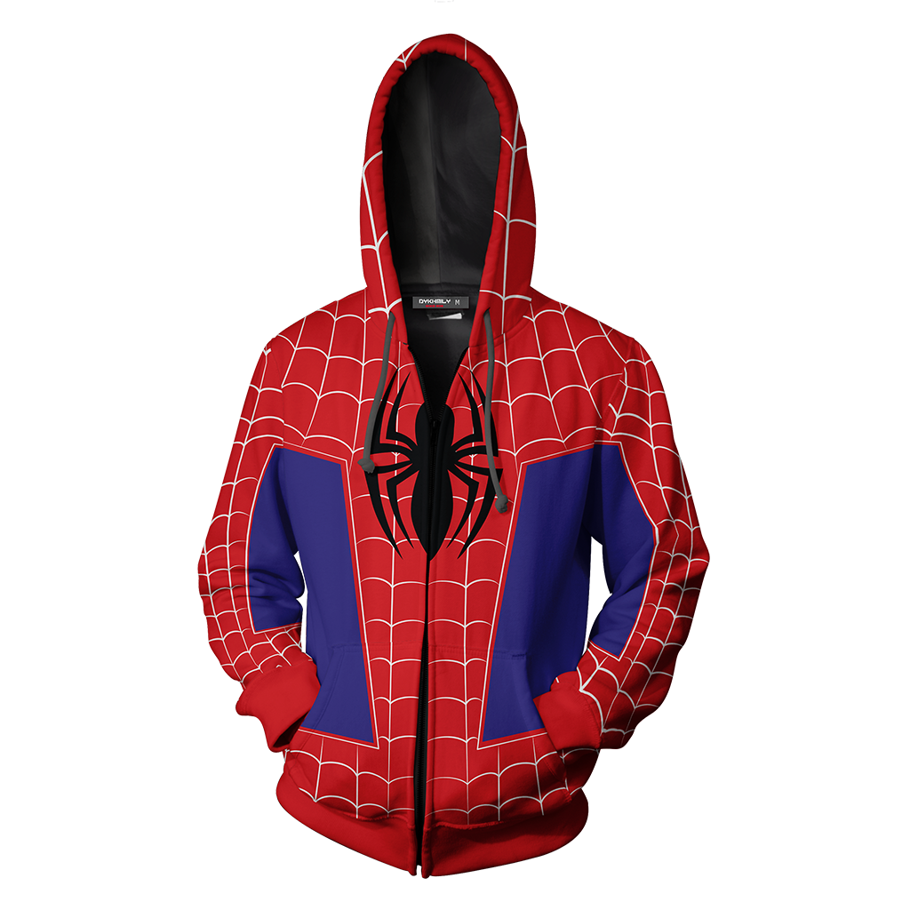 Spider-Man: Into the Spider-Verse Peter Parker Cosplay Zip Up Hoodie Jacket