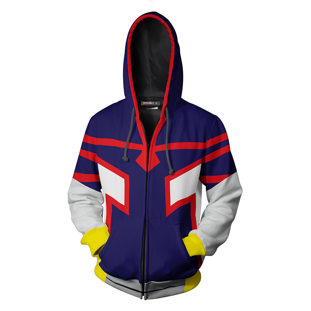 Boku No Hero Academia Young All Mighty Cosplay Zip Up Hoodie Jacket