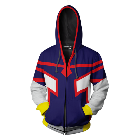 Image of Boku No Hero Academia Young All Mighty Cosplay Zip Up Hoodie Jacket