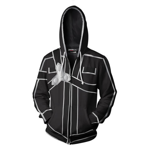 Image of Sword Art Online Kirito Cosplay Zip Up Hoodie Jacket