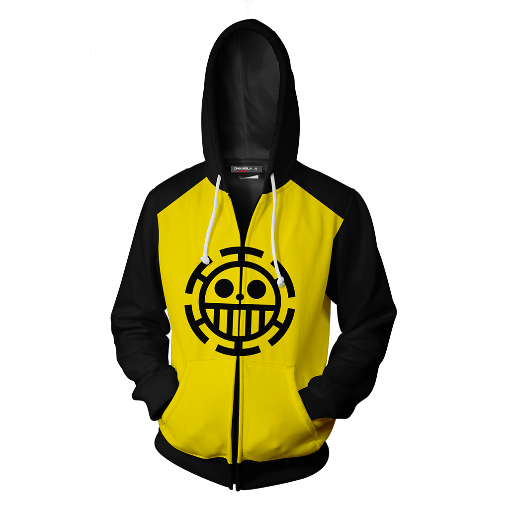 One Piece Trafalgar D. Water Law Cosplay Zip Up Hoodie Jacket
