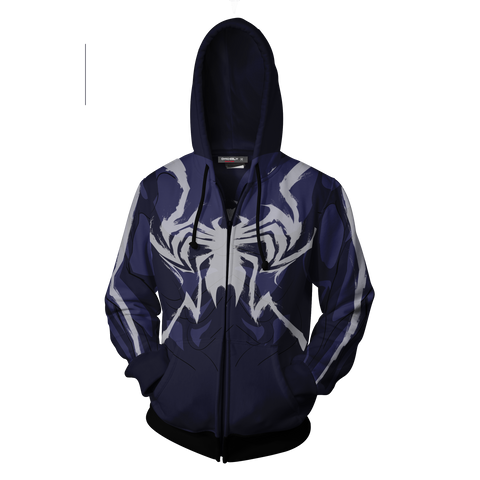 Image of Venom Marvel Cosplay Zip Up Hoodie Jacket