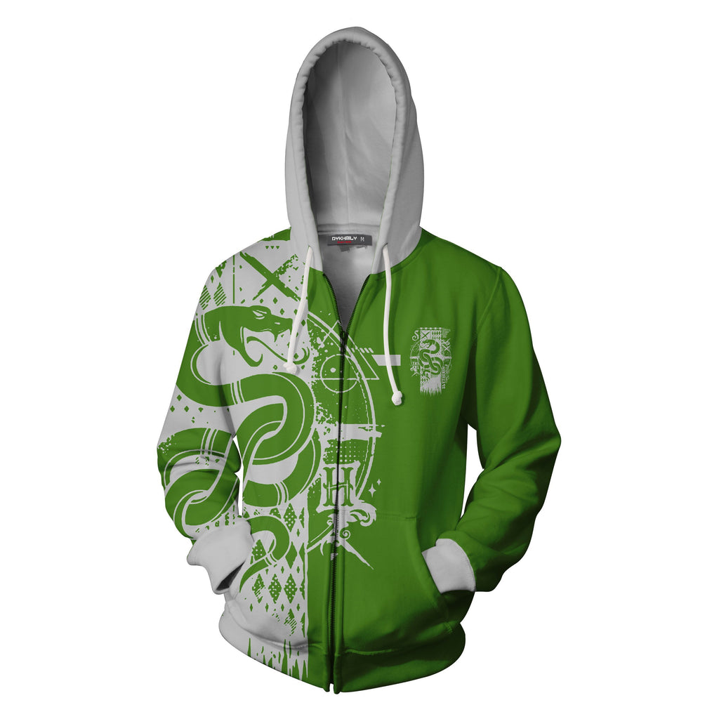 Quidditch Slytherin Harry Potter Zip Up Hoodie