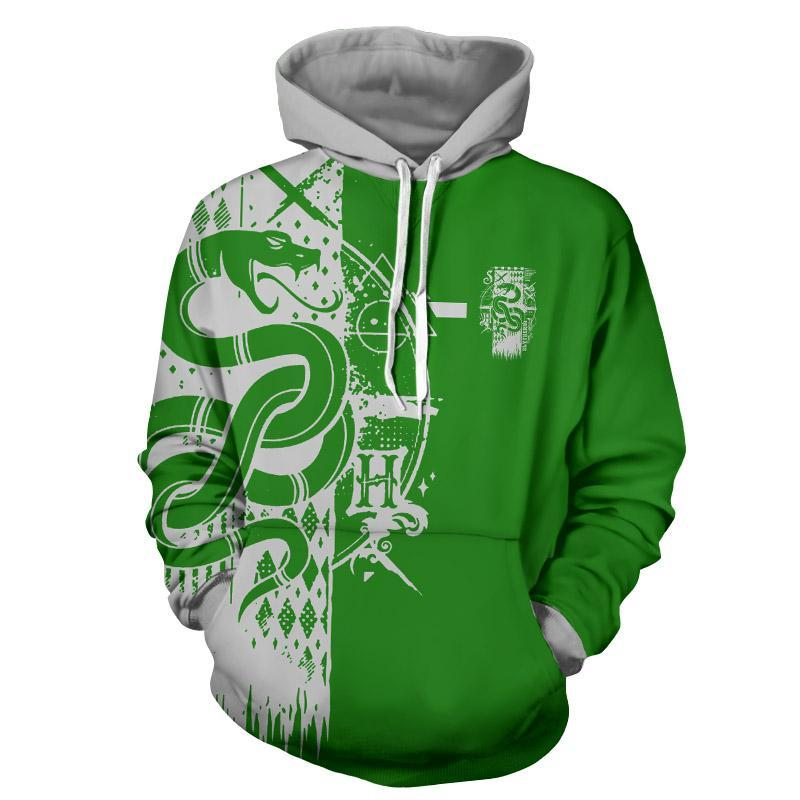 Quidditch Slytherin Harry Potter 3D Hoodie