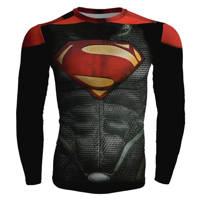 Batman v Superman Henry Cavill Cosplay Long Sleeve Compression T-shirt