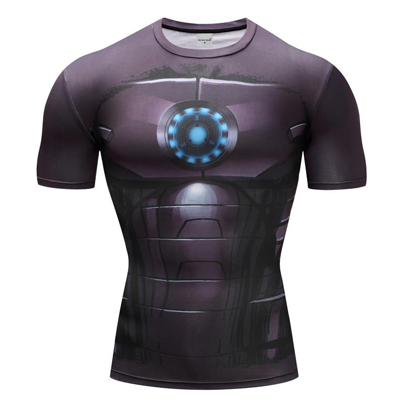Iron Man Cosplay Short Sleeve Compression T-shirt