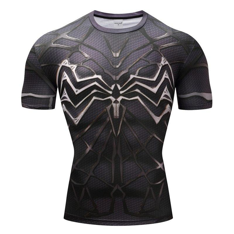 Venom Cosplay Short Sleeve Compression T-shirt