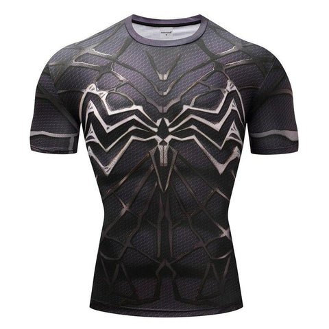 Image of Venom Cosplay Short Sleeve Compression T-shirt