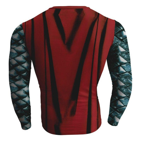 Image of Thor: The Dark World Cosplay Long Sleeve Compression T-shirt