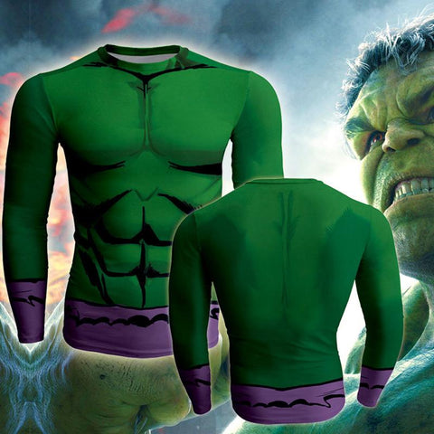 Image of The Hulk Cosplay Long Sleeve Compression T-shirt