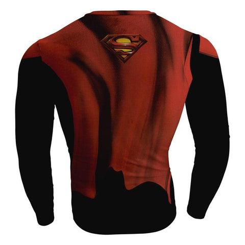 Image of Batman v Superman Henry Cavill Cosplay Long Sleeve Compression T-shirt