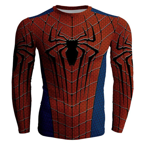 Image of The Amazing Spider-Man 2 Peter Parker Cosplay Long Sleeve Compression T-shirt