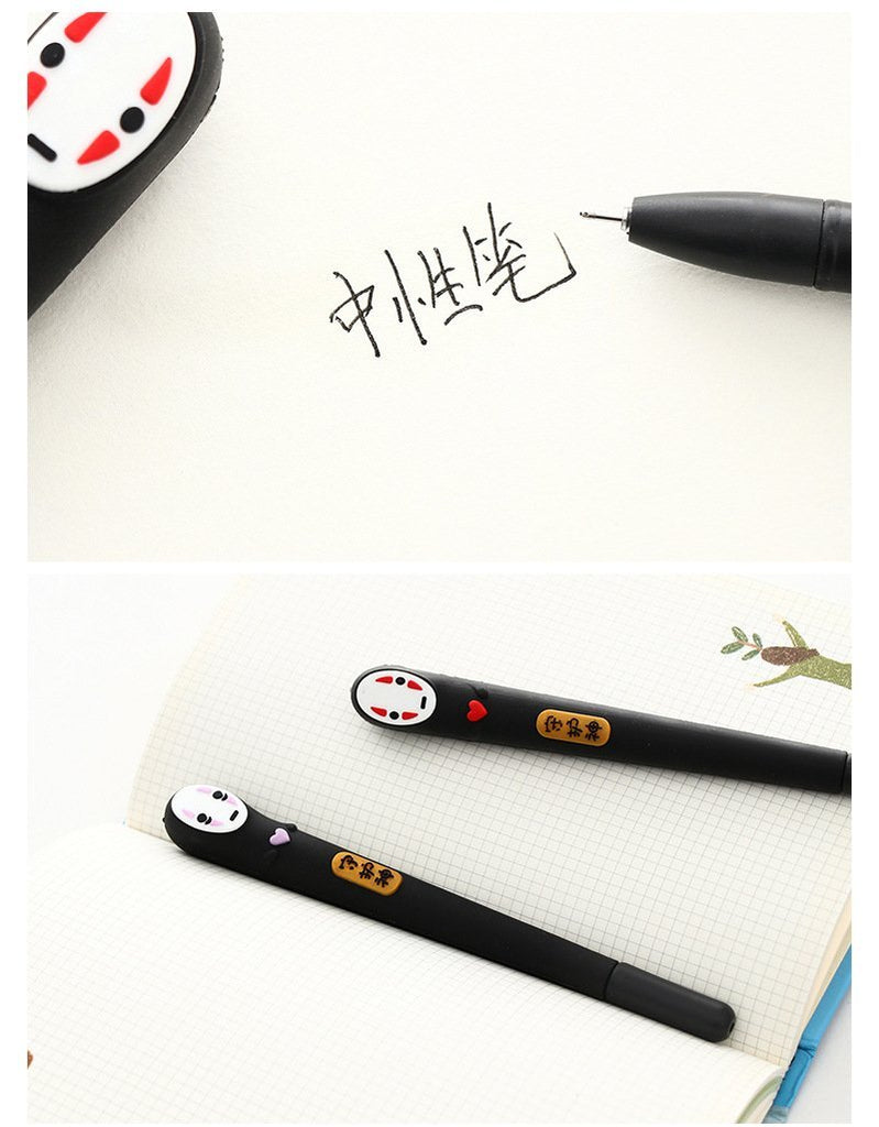 Spirited Away No Face Man Gel Pen Black 0.5mm 2pcs/lot