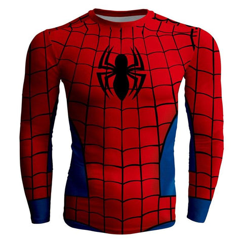 Image of Spider-Man Long Sleeve Compression T-shirt