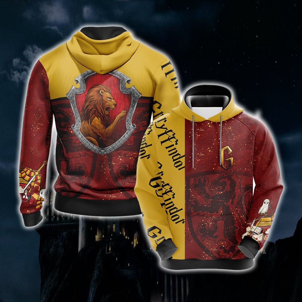 Gryffindor House - Harry Potter Unisex 3D Hoodie