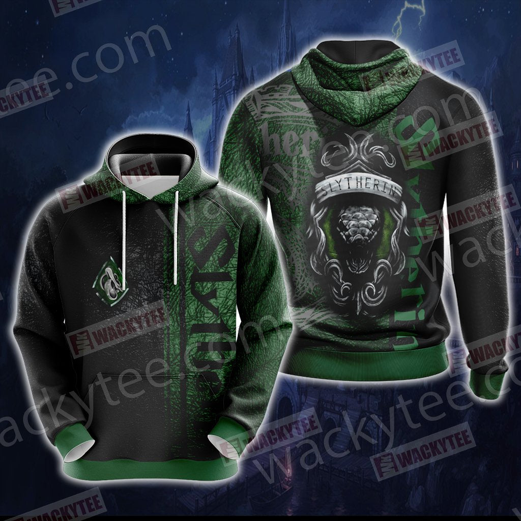 Harry Potter - Slytherin House Wacky Style New Unisex 3D Hoodie