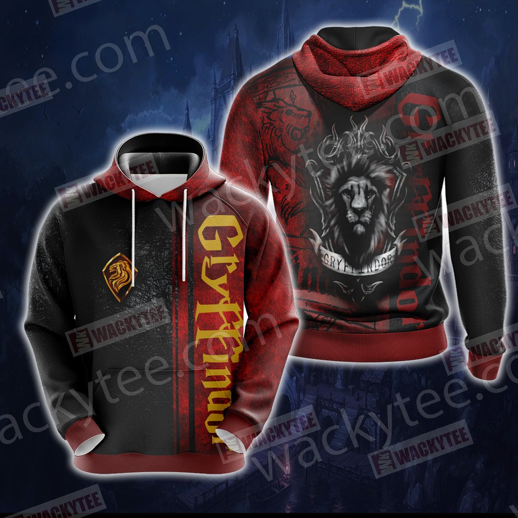 Harry Potter - Gryffindor House Wacky Style New Uniex 3D Hoodie