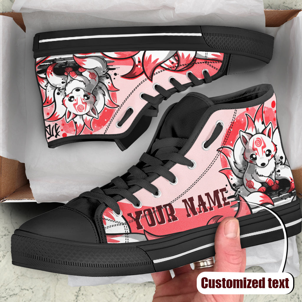 Ninetail fox Spirit-Customized High Top Shoes
