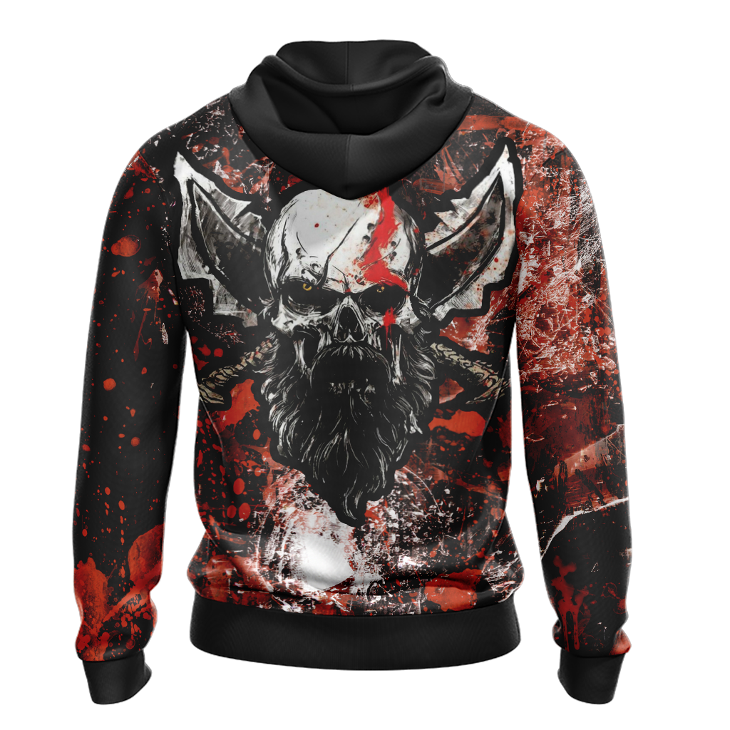 God Of War - Kratos New Version 2020 Unisex Zip Up Hoodie Jacket