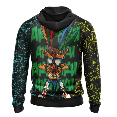 Image of Crash Bandicoot New Unisex Zip Up Hoodie