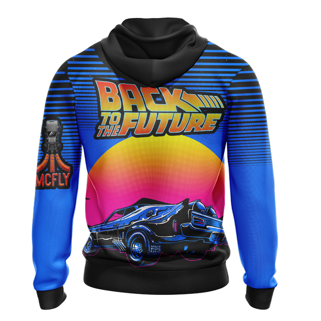 Back To The Future New Unisex Zip Up Hoodie