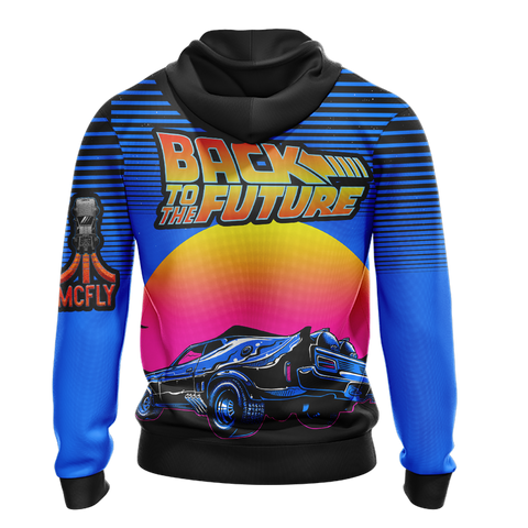 Image of Back To The Future New Unisex Zip Up Hoodie