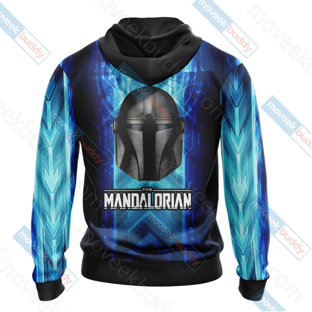 Star Wars The Mandalorian Unisex Zip Up Hoodie Jacket