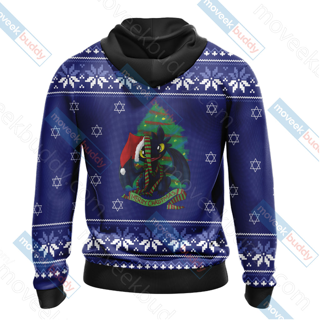 How To Train Your Dragon Christmas Style Unisex 3D Hoodie