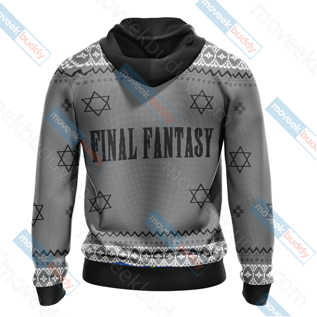 Final Fantasy VII - Cloud Christmas Style Unisex 3D Hoodie