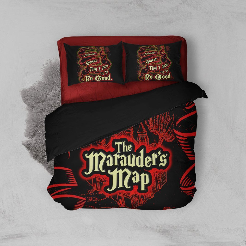 The Marauder's Map Harry Potter Bed Set