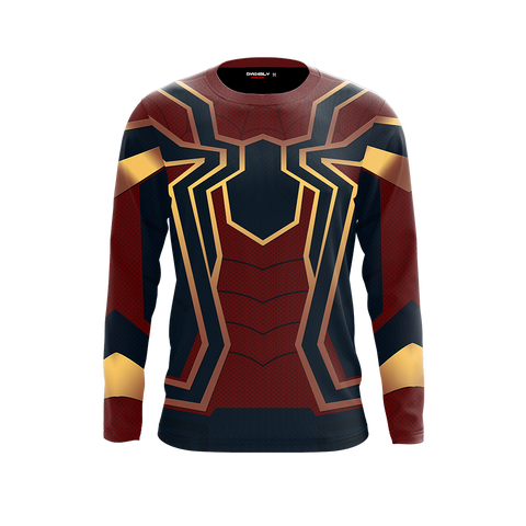 Image of Spider-man: Homecoming Iron Spider Cosplay 3D Long Sleeve Shirt