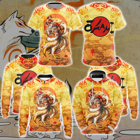 Image of Nine Tail Okami Fox Unisex 3D T-shirt