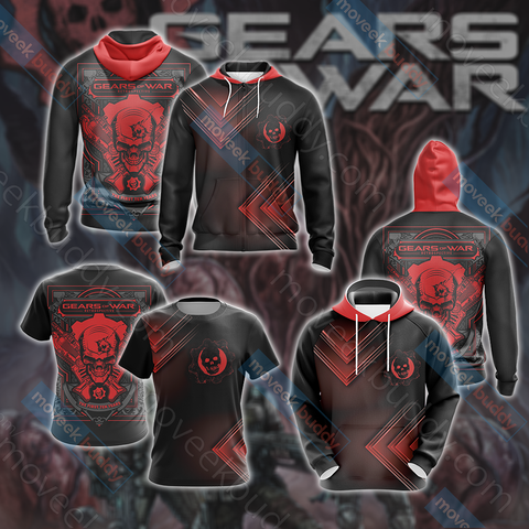 Image of Gears of War Unisex Zip Up Hoodie Jacket