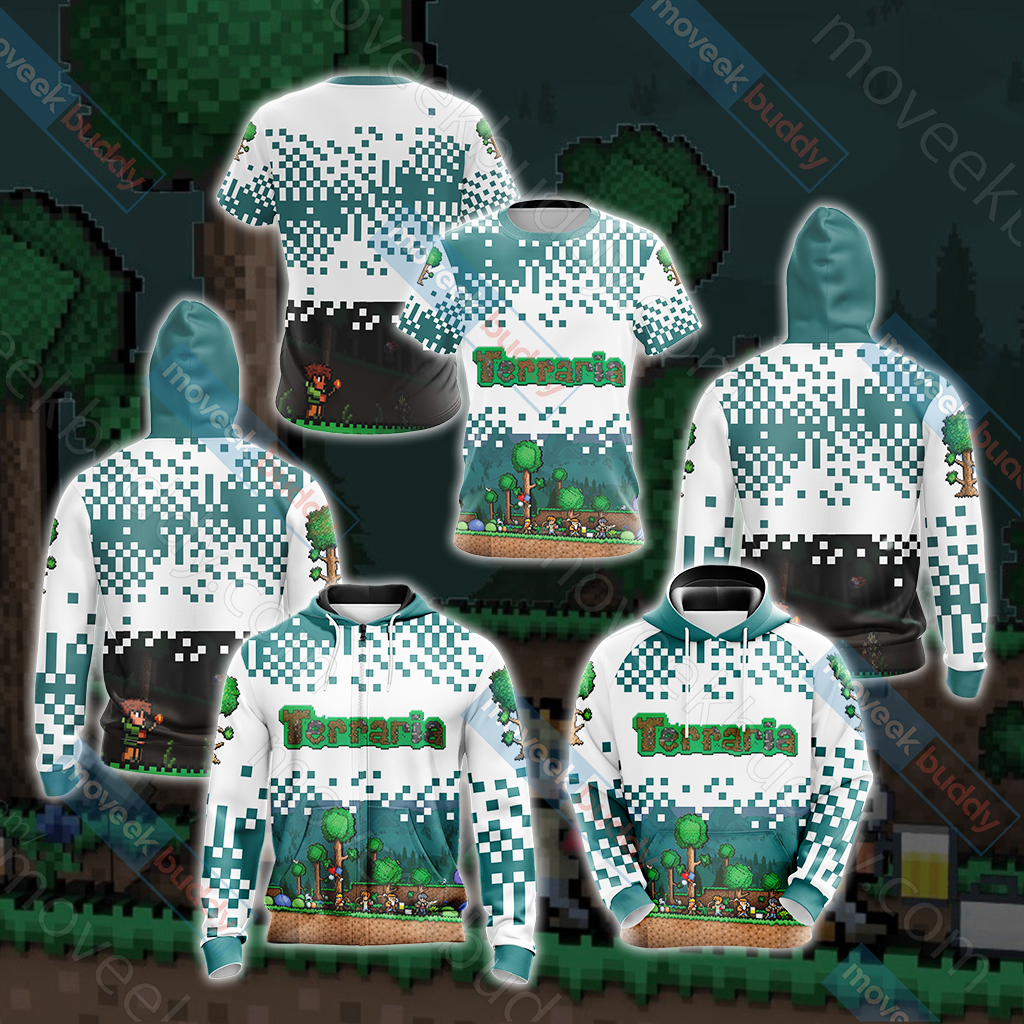 Terraria Unisex Zip Up Hoodie Jacket