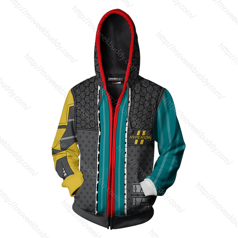 Image of Borderlands Rhys Cosplay Zip Up Hoodie Jacket