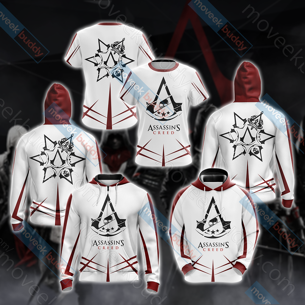 Assassin's Creed New Collection Unisex Zip Up Hoodie Jacket