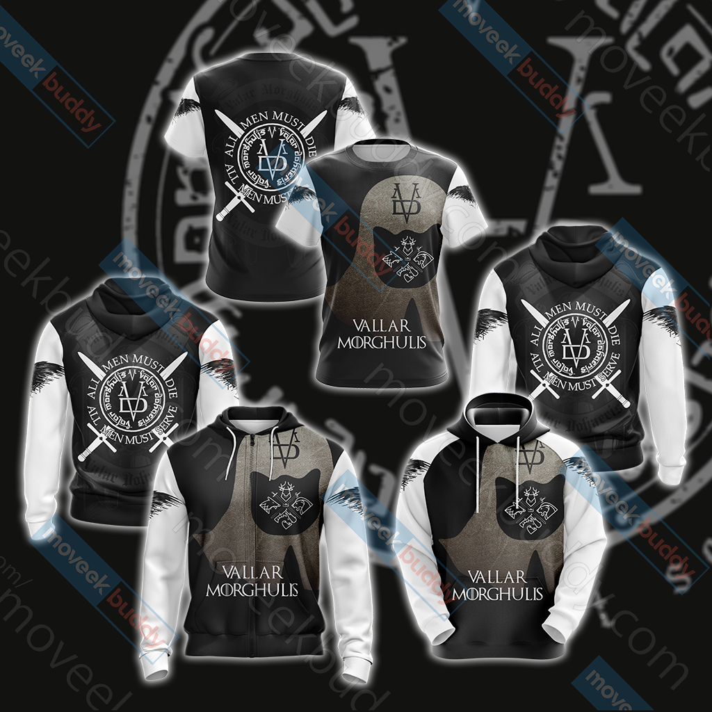 Game Of Thrones - Valar Morghulis Unisex 3D Hoodie