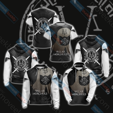 Image of Game Of Thrones - Valar Morghulis Unisex 3D Hoodie