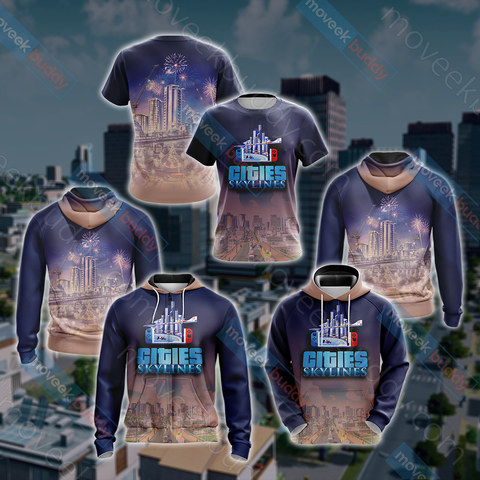 Image of Cities: Skylines Unisex 3D T-shirt
