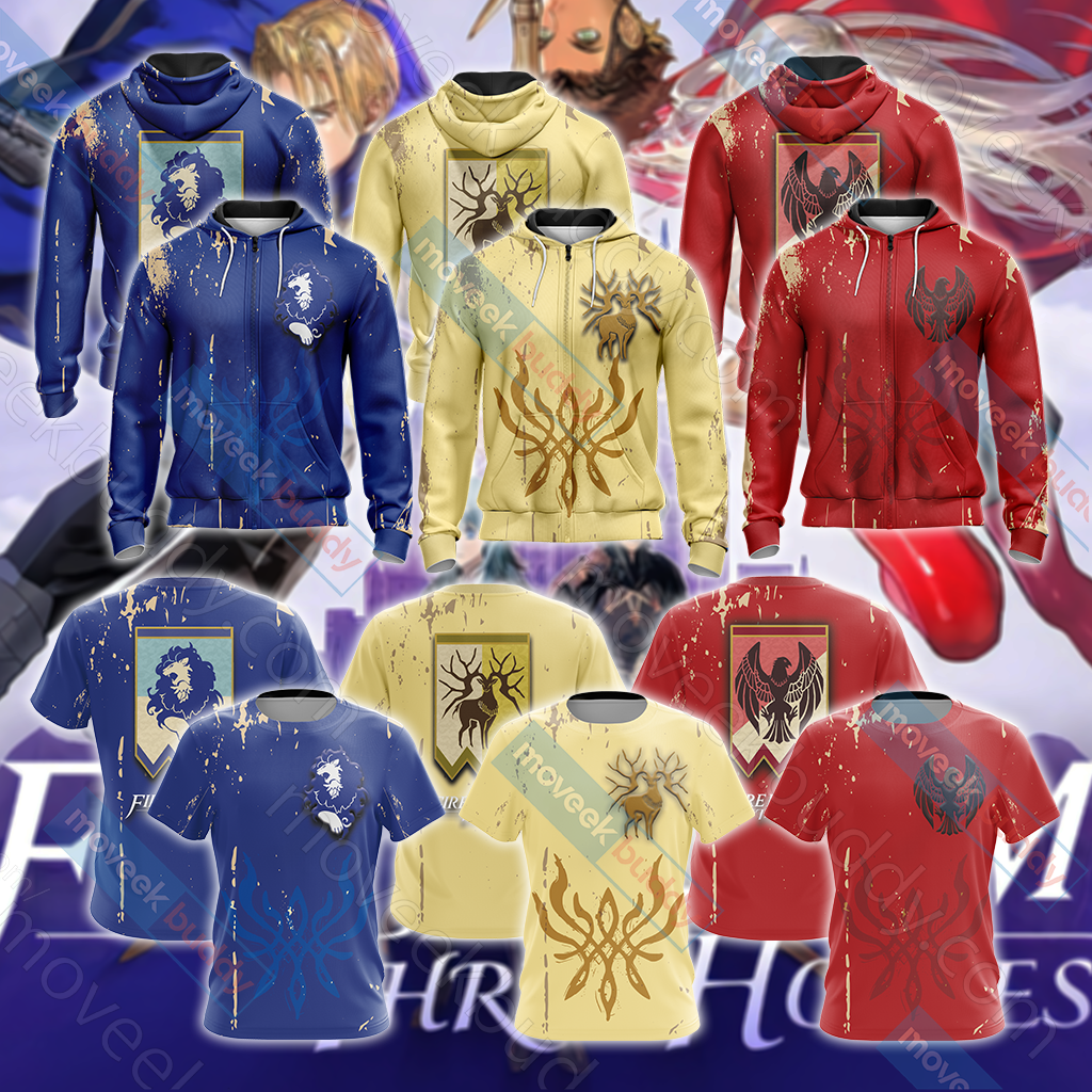 Fire Emblem - The Blue Lions Unisex Zip Up Hoodie Jacket