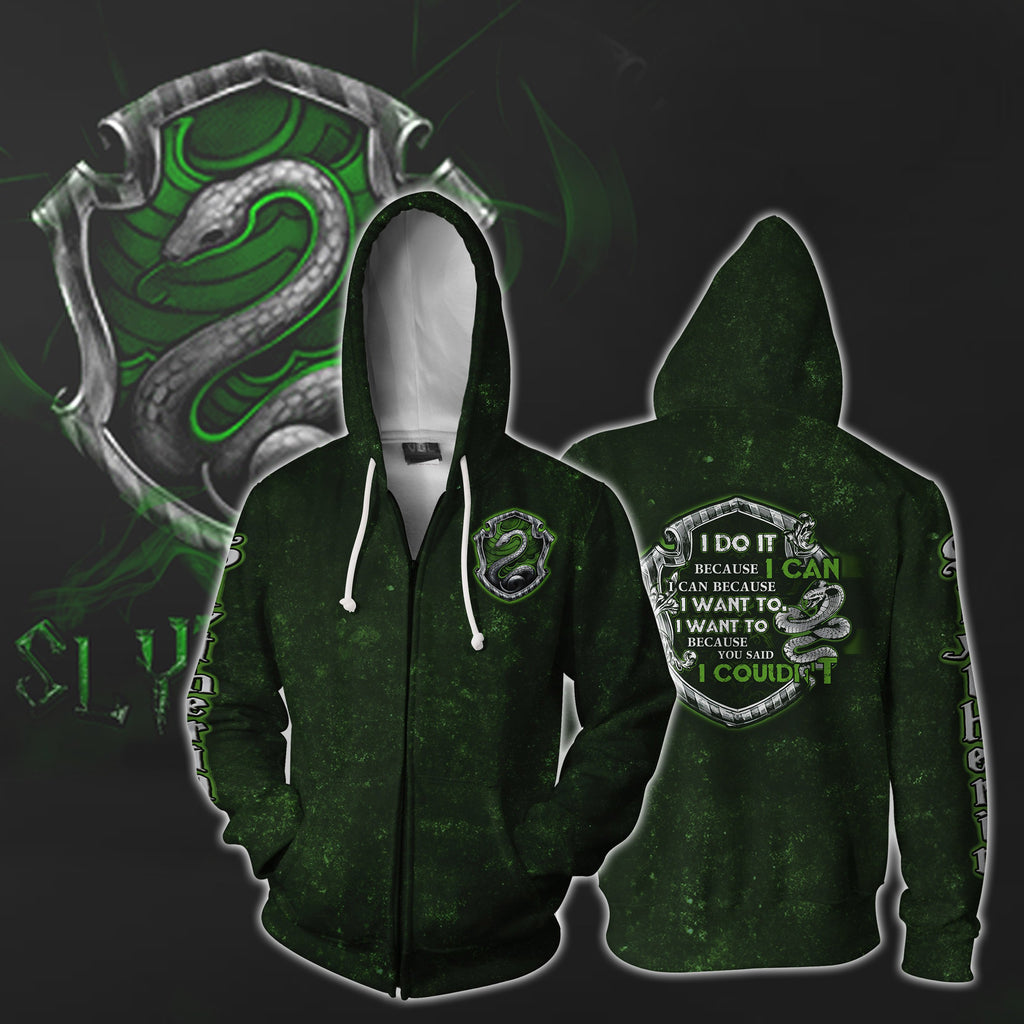 Slytherin House Harry Potter Zip Up Hoodie