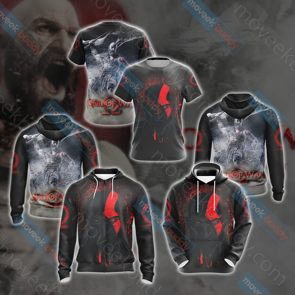 God Of War New Look Unisex Zip Up Hoodie Jacket