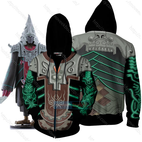 The Legend Of Zelda: Twilight Princess Zant Cosplay Zip Up Hoodie Jacket