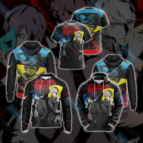 Persona 3, 4, 5 Protagonists Unisex Zip Up Hoodie