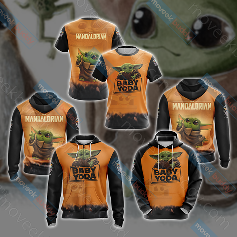 Image of Star Wars The Mandalorian Baby Yoda  Unisex 3D Hoodie