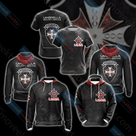 Image of Resident Evil Umbrella Security Service (USS) Unisex 3D T-shirt